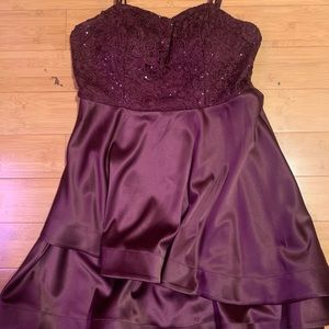 My Michelle Mid Thigh length Dress (magenta)